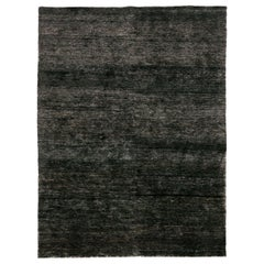 Noche Black Hand Knotted Jute Rug by Nani Marquina & Ariadna Miquel, Large