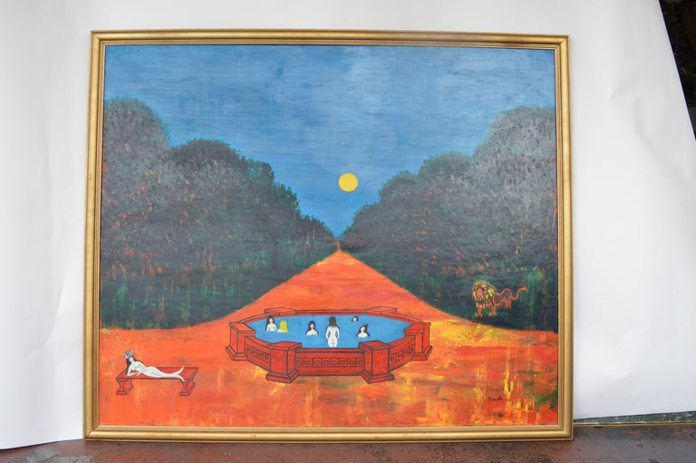 French Nocturnal Swims by Nicola Ortis Poucette For Sale