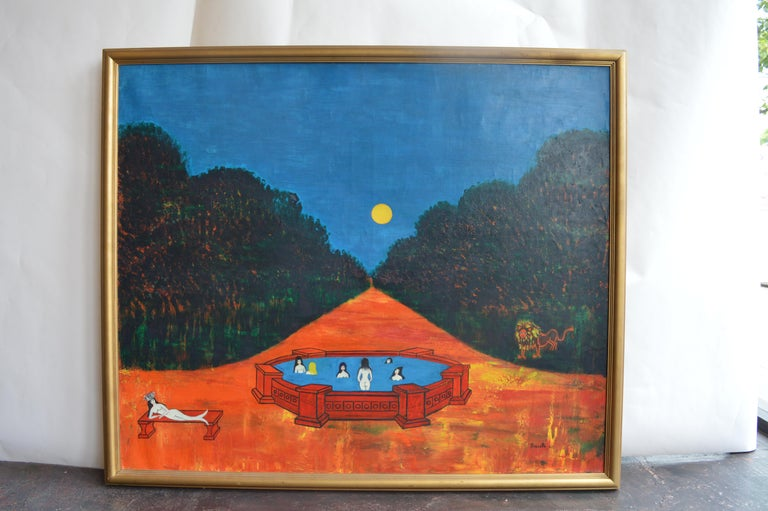 Nocturnal Swims by Nicola Ortis Poucette In Good Condition For Sale In Los Angeles, CA