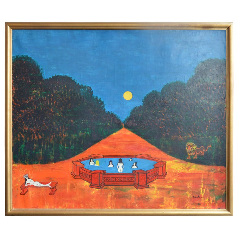 Nocturnal Swims by Nicola Ortis Poucette For Sale
