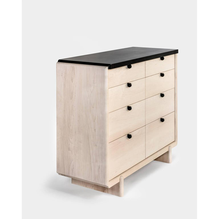 Modern Nocturne Chest or Dresser, Bleached Maple For Sale