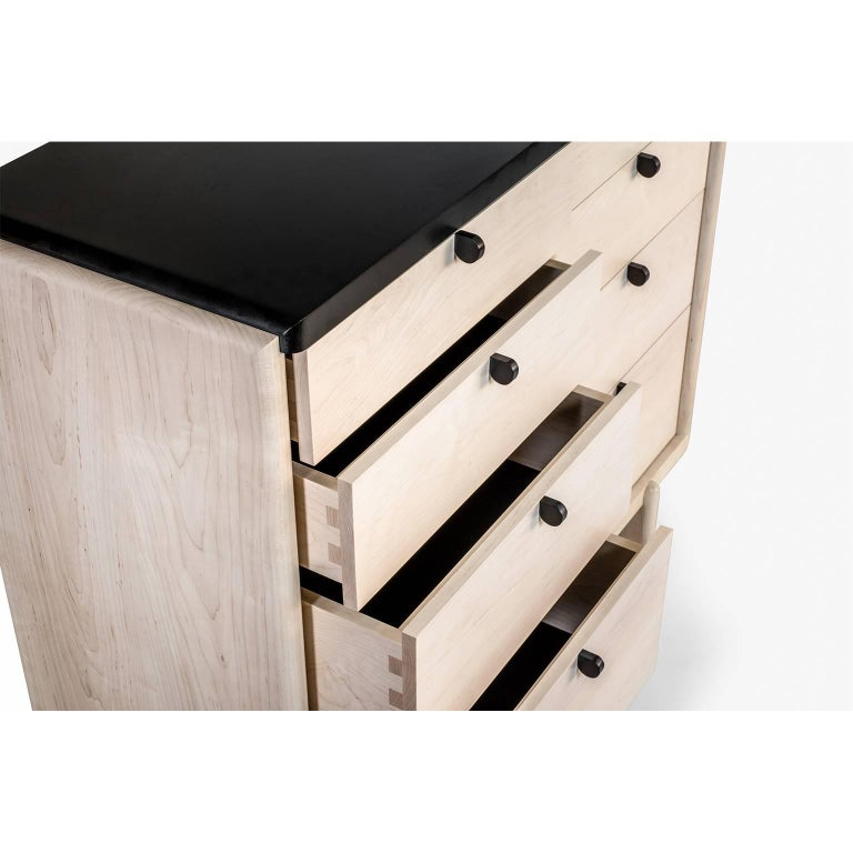 Nocturne Chest or Dresser, Bleached Maple In New Condition For Sale In Brooklyn, NY