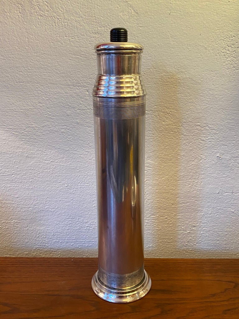 """""""Nocturne"""" Silverplate Cocktail Shaker by Saunders and Switzer for Benedict For Sale 3"""