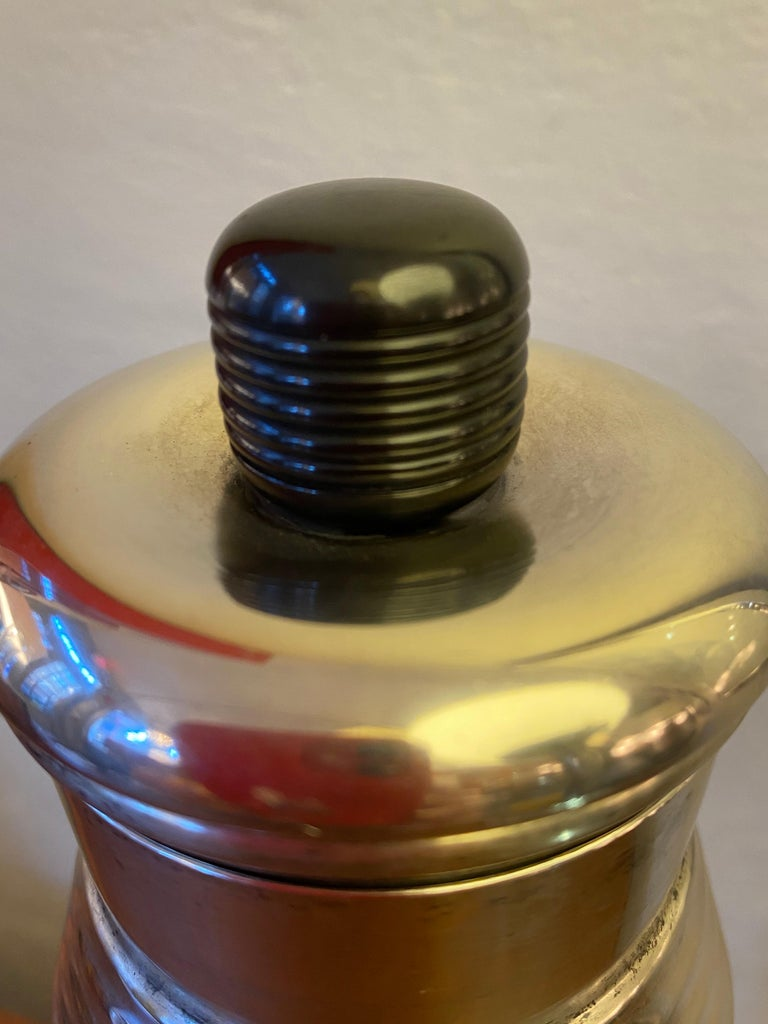 """""""Nocturne"""" Silverplate Cocktail Shaker by Saunders and Switzer for Benedict For Sale 1"""