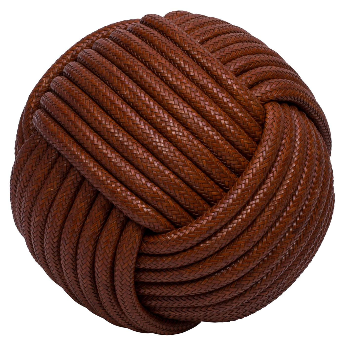 Nodo Leather Pouf