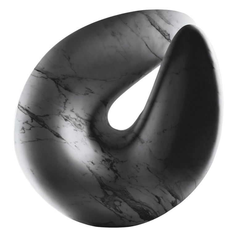 Nodo Sciolto Sculpture in Bianca Carrara Marble by Kreoo For Sale