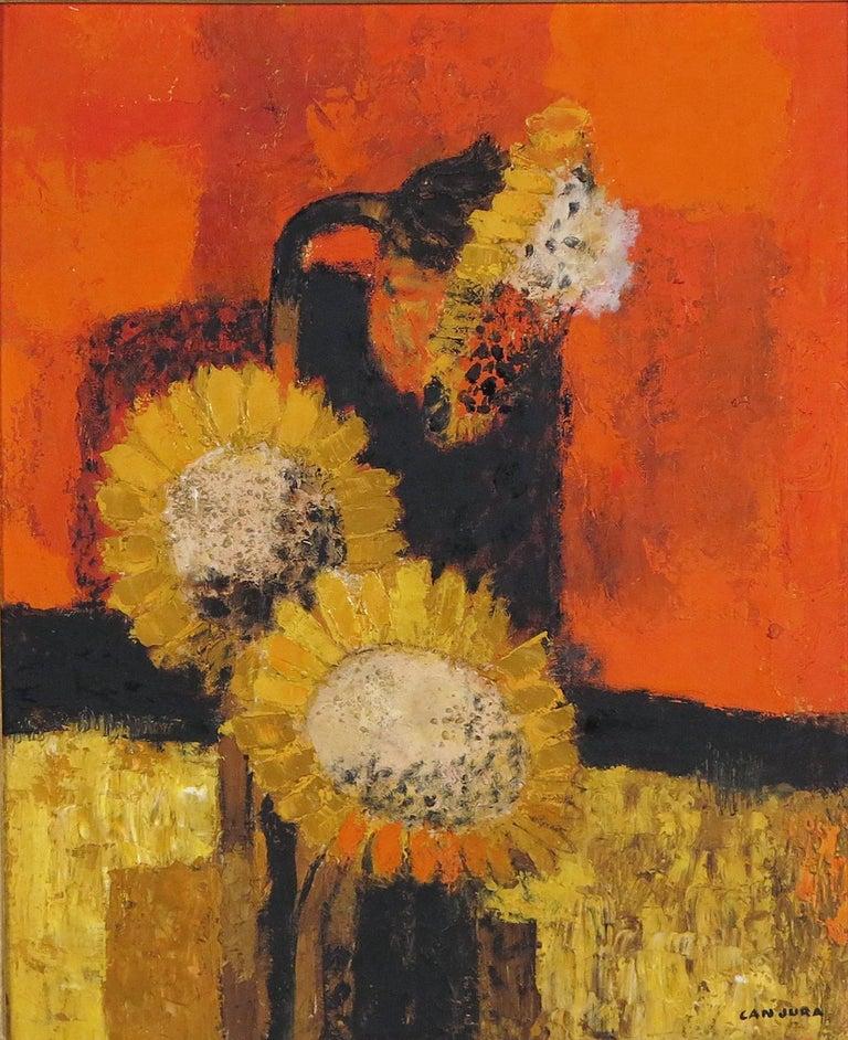 Noe Canjura Still-Life Painting - Soleils au Crepuscule
