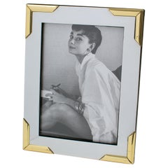 Noel B.C Italy 1970s Modernist Picture Photo Frame Chrome and Brass