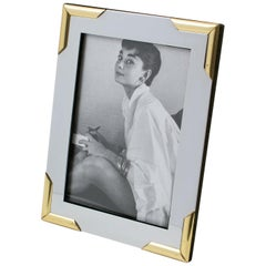 Noel B.C Italy Chrome and Brass Picture Frame