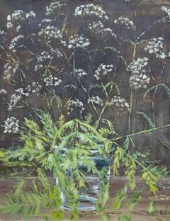 Cow Parsley, 1960s oil painting by Sir Noel Coward