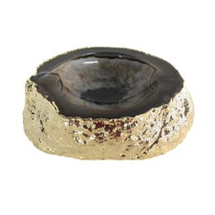 Noemi Polished Agate Bowl in Black and Gold by CuratedKravet