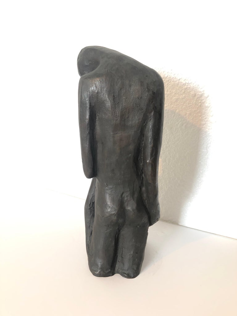Israeli Bronze Modernist Sculpture Lovers Embracing Kibbutz Social Realist Art For Sale 4