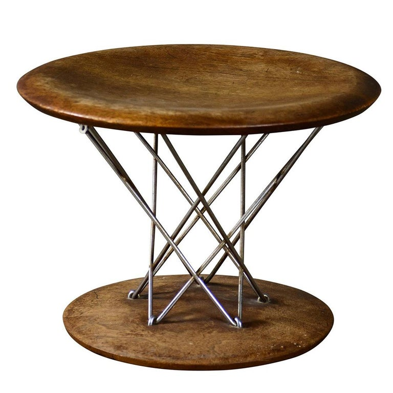 Noguchi for Knoll rocking stool, 1955
