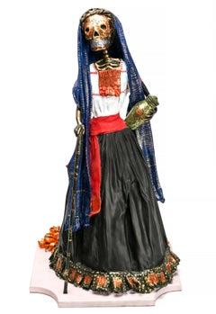 Catrina Tlaxcalteca / Mexican Folk Art Carton Sculpture