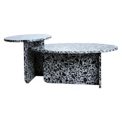 Noir Antique Terrazzo Nesting Coffee Tables, Set of 2