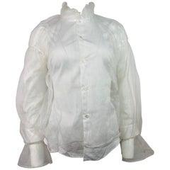 Noir Kei Ninomiya Comme Des Garcons White Button Down Blouse Size M