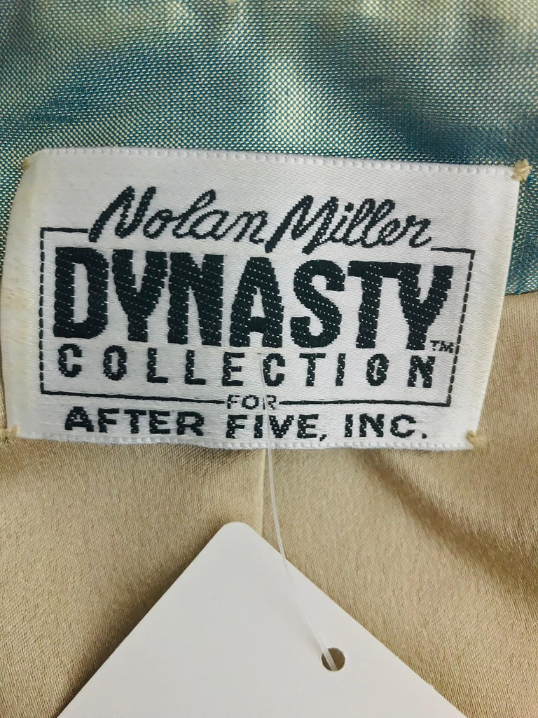 Nolan Miller Dynasty Collection Gown and Fur Trimmed Jacket 1980s For Sale 14