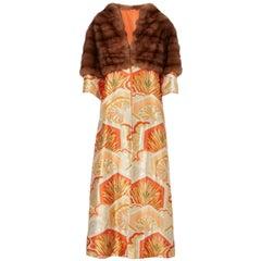 Nolan Miller kimono coat with barguzin sable trim, circa 1978