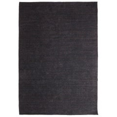 Nomad Black Hand-Loomed Wool Rug by Nani Marquina & Ariadna Miquel in Stock