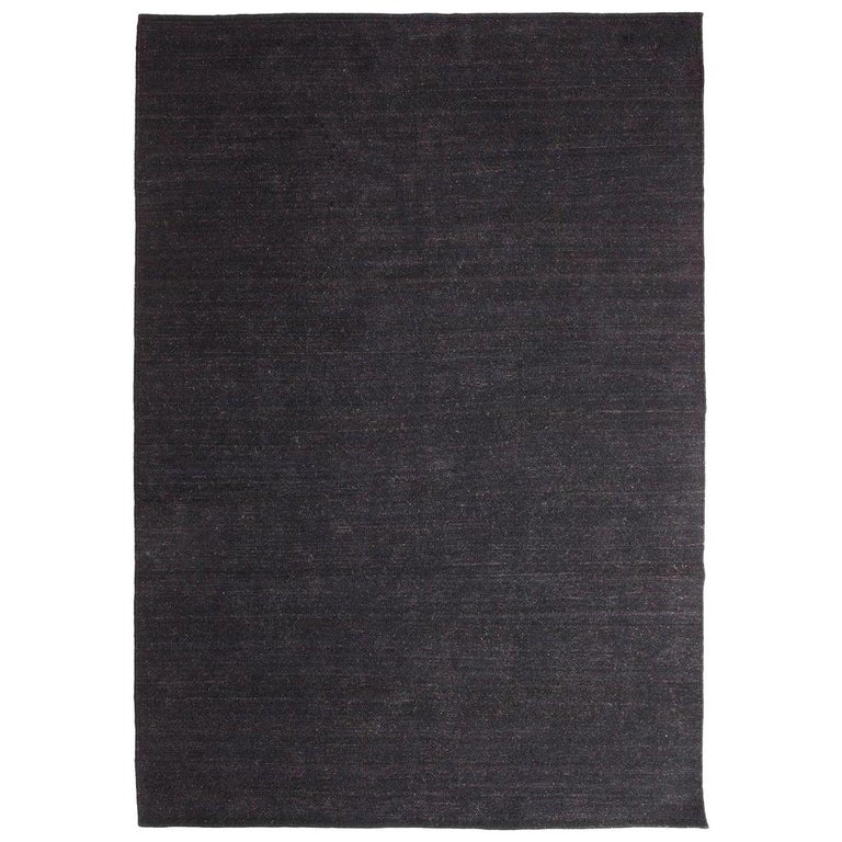 Nomad Black Hand Loomed Wool Rug By Nani Marquina Ariadna Miquel In Stock