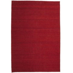 Nomad Deep Red Hand-Loomed Wool Rug by Nani Marquina & Ariadna Miquel in Stock