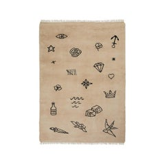 Nomad Sand, Wool Shaggy Berber Rug in Scandinavian Design