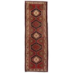Nomadic Style Vintage Persian Azerbaijan Tribal Runner, Hallway Runner