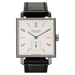 Nomos Tetra Glass Black 406 Watches with Black Leather Bracelet