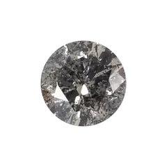 "Non Certified Diamond Brilliant 3.01ct Color ""G"", Clarity I1-I2 ""Salt n Pepper"""