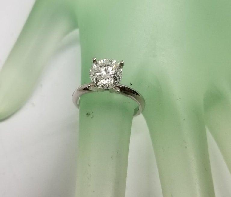 Art Deco Non Certified Diamond Brilliant Cut 2.00 Carat, Color