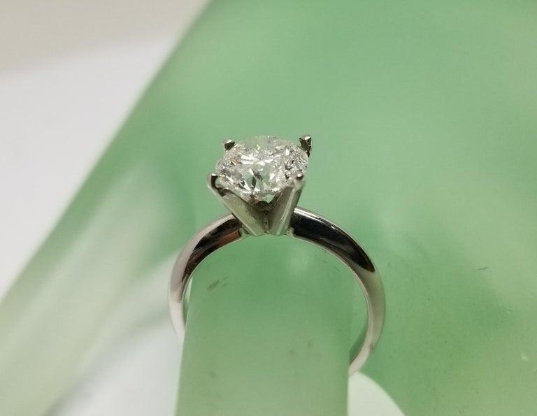 Round Cut Non Certified Diamond Brilliant Cut 2.00 Carat, Color