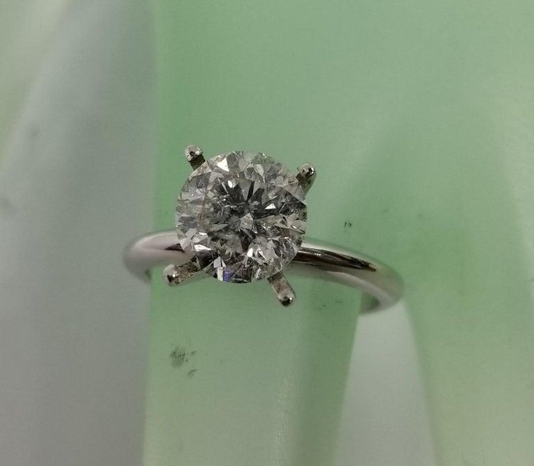 Non Certified Diamond Brilliant cut 2.00ct.; color