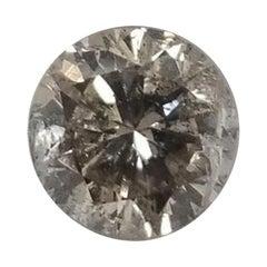 """Non Certified Diamond Brilliant Cut 2.27 Carat, Color """"TLB"""" Clarity SI3"""