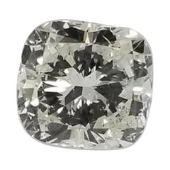 "Non Certified Diamond Cushion Cut 1.30 Carat, Color ""I-J"", Clarity SI1"
