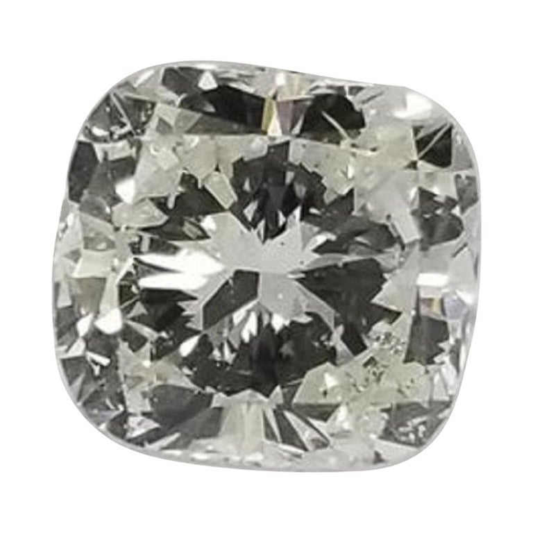"Non Certified Diamond Cushion Cut 1.30 Carat, Color ""I-J"", Clarity SI1 For Sale"
