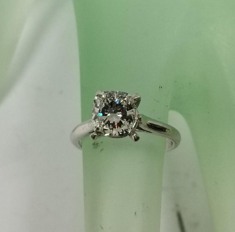 Non Certified Diamond Cushion cut 1.30ct.; color