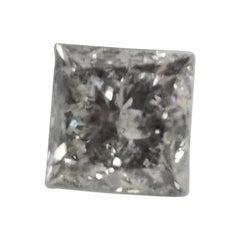 "Non Certified Diamond Princess 1.80ct Color ""K"", Clarity I1-I2 ""Salt n Pepper"""