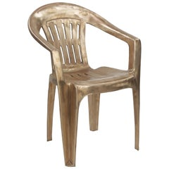 SALE!*  Non-Disposable Disposable Chair in Solid Bronze by Christopher Kreiling