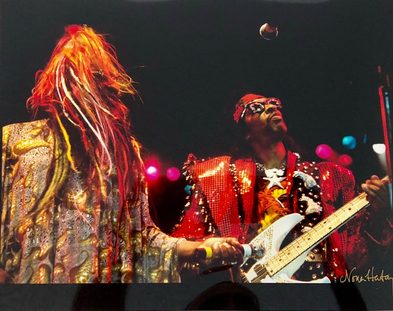 Color Rock & Roll Photo Hand Signed Woodstock Music Festival African American  - Photograph by Nona Hatay
