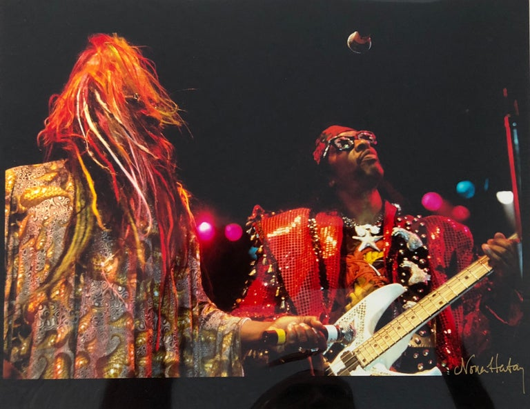 Color Rock & Roll Photo Hand Signed Woodstock Music Festival African American  - American Modern Photograph by Nona Hatay