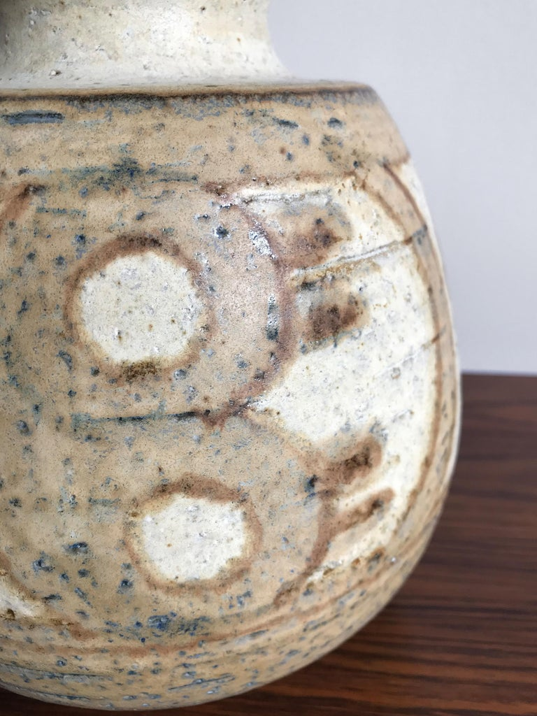 Scandinavian Modern Noomi Backhausen for Søholm Stentøj Dornholm Scandinavian Ceramic Vase, 1960 For Sale