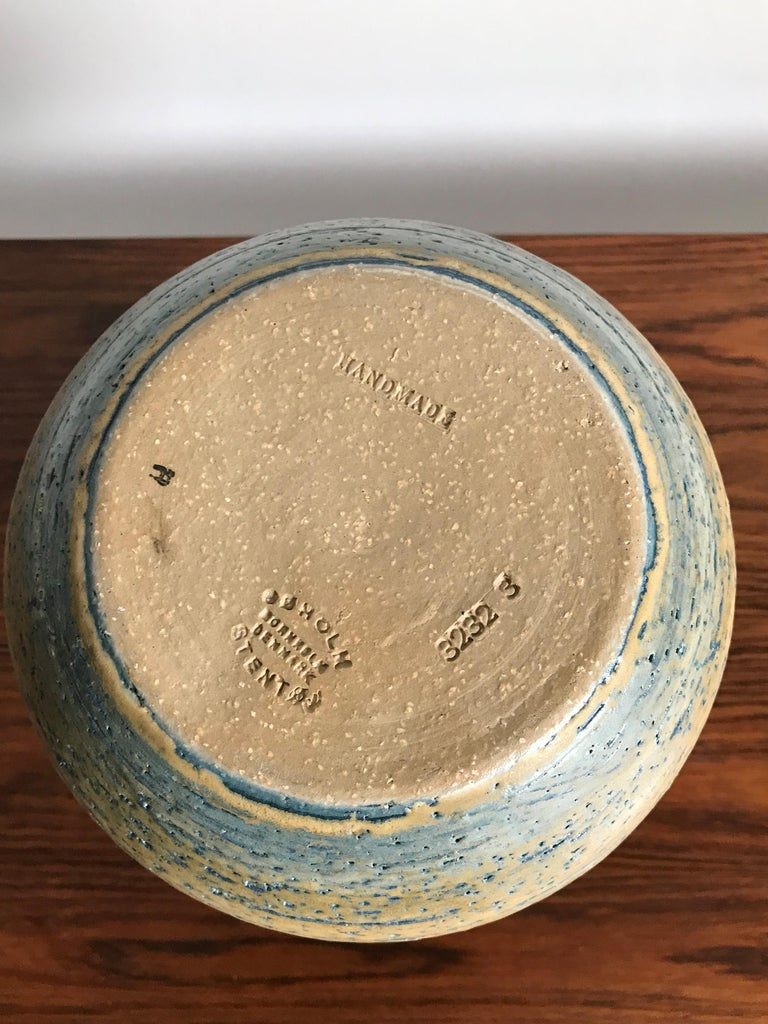 Danish Noomi Backhausen for Søholm Stentøj Dornholm Scandinavian Ceramic Vase, 1960 For Sale
