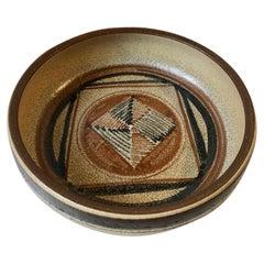 Noomi Backhausen Graphic Stoneware Bowl, Søholm 1970s