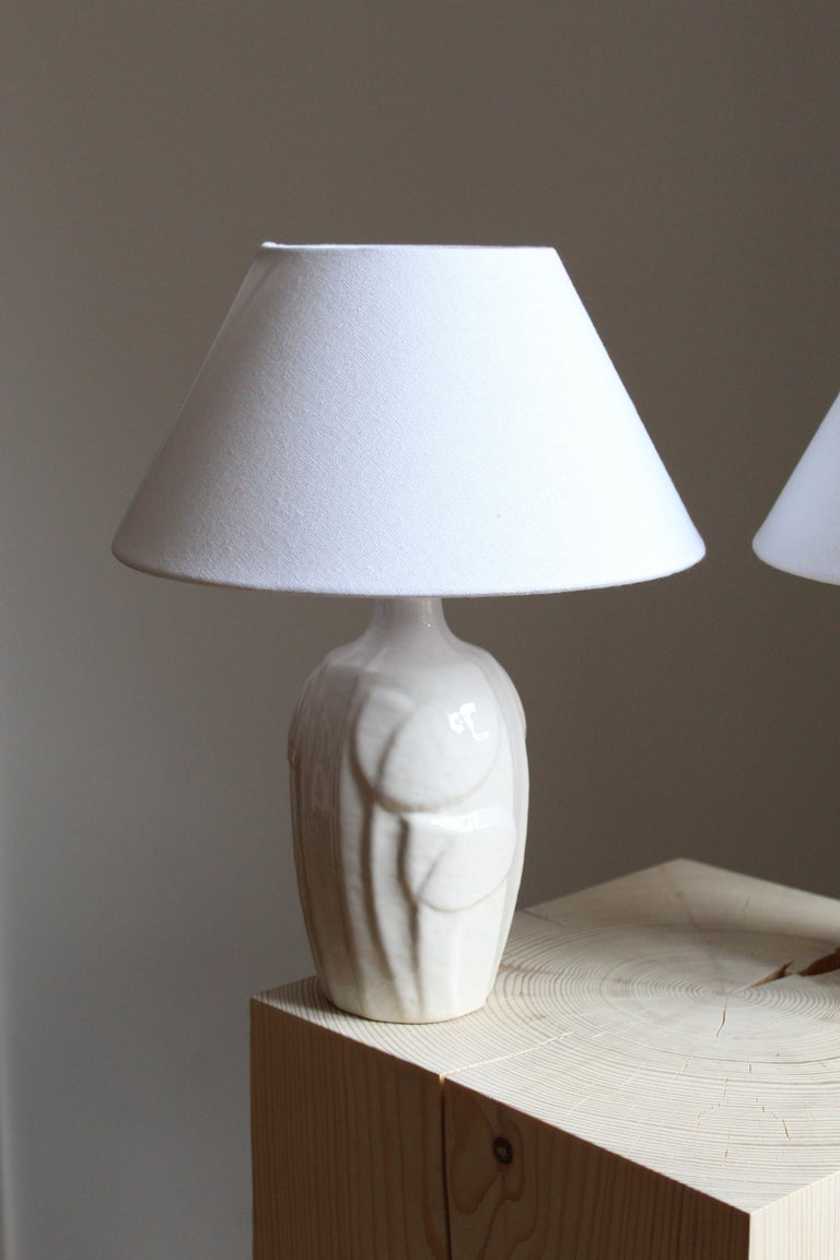 Mid-Century Modern Noomi Backhausen, Table Lamp, Glazed Stoneware, Søholm, Bornholm, Denmark, 1960s For Sale