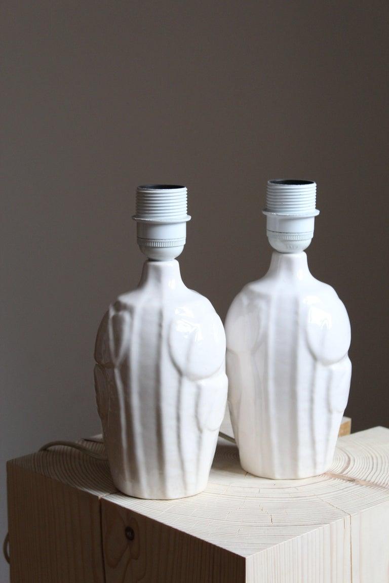 Danish Noomi Backhausen, Table Lamp, Glazed Stoneware, Søholm, Bornholm, Denmark, 1960s For Sale