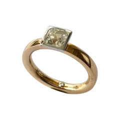 """""""NOOR"""" Ring Set with a Cushion Diamond 1.03 Ct"""
