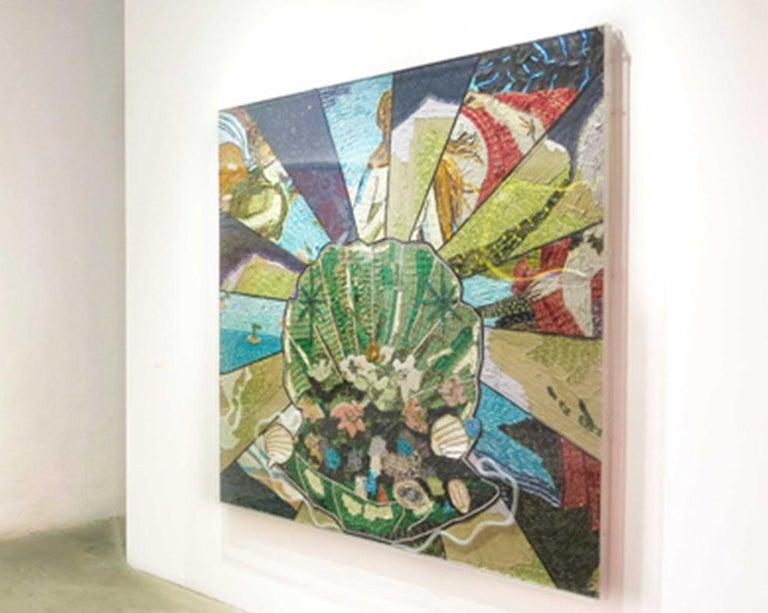 Concha - Contemporary Mixed Media Art by Nora Adame