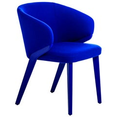 Nora, Blue Armchair, Designed by Michael Schmidt, Made in Italy