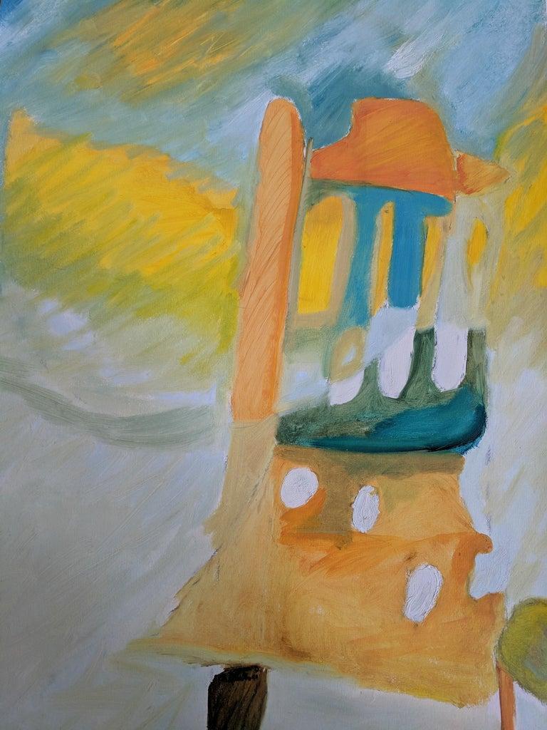 Alo Fugaz (Chair) - Abstract Mixed Media Art by Nora Quintero