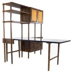 Noral Olson Kopenhavn Mid Century Danish Freestanding Desk Wall Unit